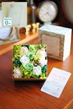 【電報・祝電付き】デザイナーズ プリザーブドフラワー Sweet Box (フレッシュ)