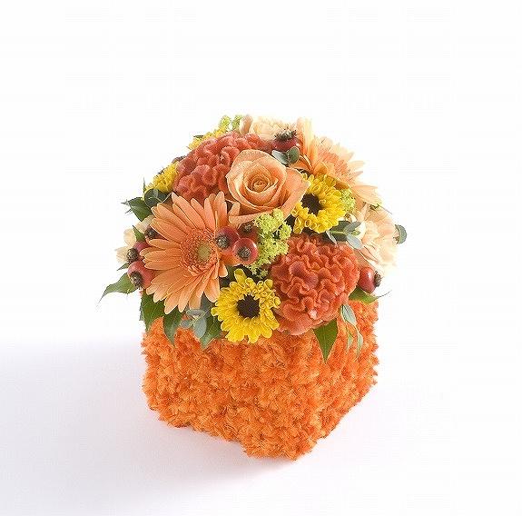 <p>パワーカラーの黄色・オレンジの花々で、元気さや陽気さを保つアロマフラワーです。</p>