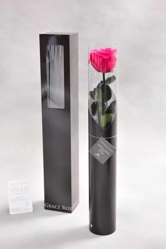 <p>スタイリッシュなデザインのケースに入ったプリザーブドフラワーLuxury Rose(ホットピンク)は用途を選ばないフラワーギフトや贈り物としてご利用いただけます。</p>