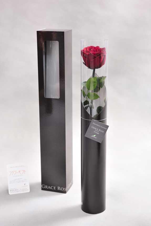 <p>スタイリッシュなデザインのケースに入ったプリザーブドフラワーLuxury Rose(ワイン)は用途を選ばないフラワーギフトや贈り物としてご利用いただけます。</p>