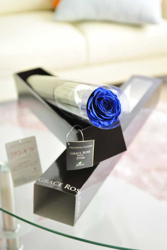 <p>プリザーブドフラワーLuxury Rose(グランブルー)は各種お祝い事の簡単なフラワーギフトや贈り物にオススメです。</p>