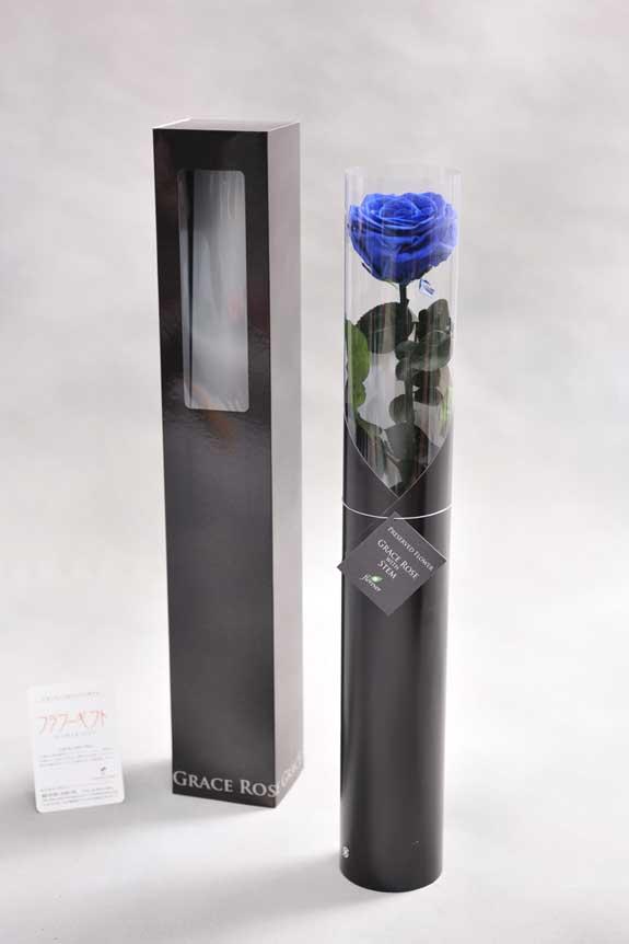 <p>スタイリッシュなデザインのケースに入ったプリザーブドフラワーLuxury Rose(グランブルー)は用途を選ばないフラワーギフトや贈り物としてご利用いただけます。</p>