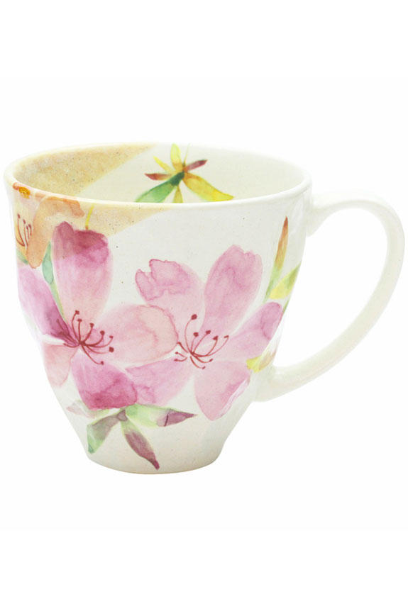 <p>花言葉は「節度」「慎み」、4月を表すツツジ柄のコーヒーカップです。<br /> 日本製の美濃焼なので高品質で安心な一品です。</p>