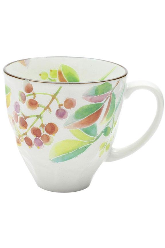 <p>花言葉は「良き家庭」「福をなす」、12月を表す南天(ナンテン)柄のコーヒーカップです。<br /> 日本製の美濃焼なので高品質で安心な一品です。</p>
