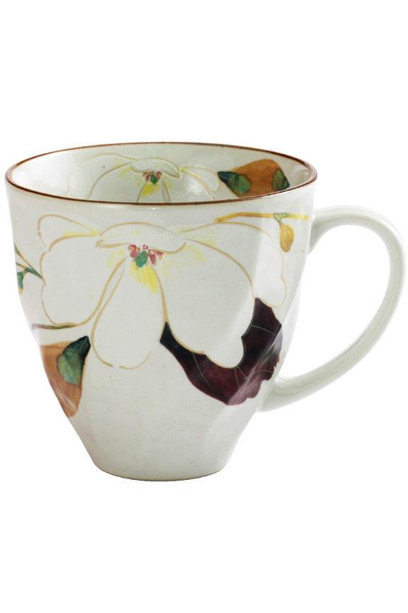 <p>花言葉は「自然への愛」「持続性」、2月を表す木蓮(もくれん)柄のコーヒーカップです。<br /> 日本製の美濃焼なので高品質で安心な一品です。</p>