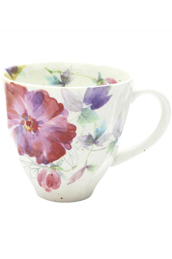 <p>花言葉は「富貴」「壮麗」「誠実」、5月を表す牡丹(ぼたん)柄のコーヒーカップです。<br /> 日本製の美濃焼なので高品質で安心な一品です。</p>