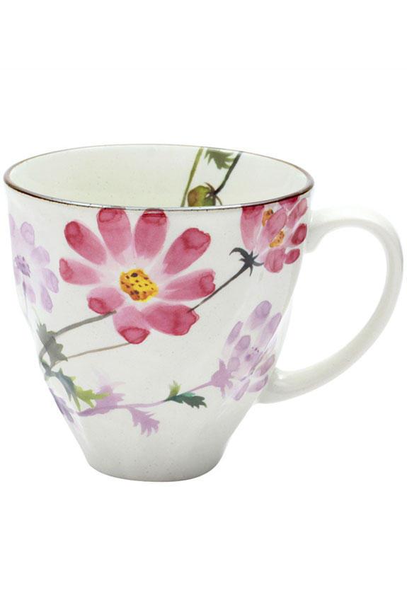 <p>花言葉は「調和」「優美」、10月を表すコスモス柄のコーヒーカップです。<br /> 日本製の美濃焼なので高品質で安心な一品です。</p>