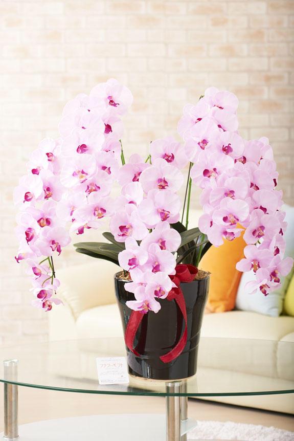 <p>リアリティを追求した胡蝶蘭の高級造花アートです。</p>