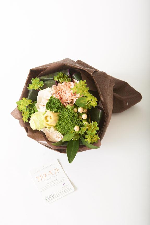 <p>花束にはビジネスフラワー®の安心品質保証タグ付き</p>