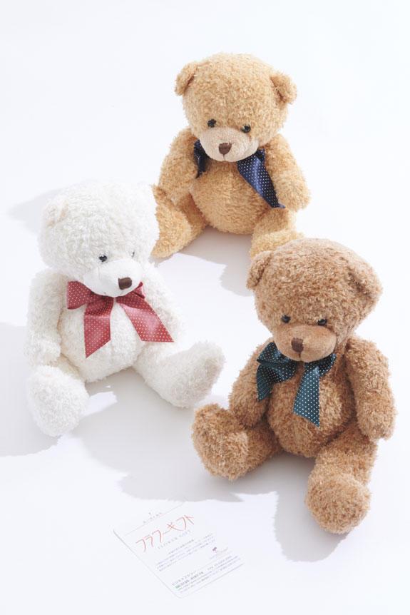 <p>可愛らしいクマのぬいぐるみを一緒にお届けします</p>