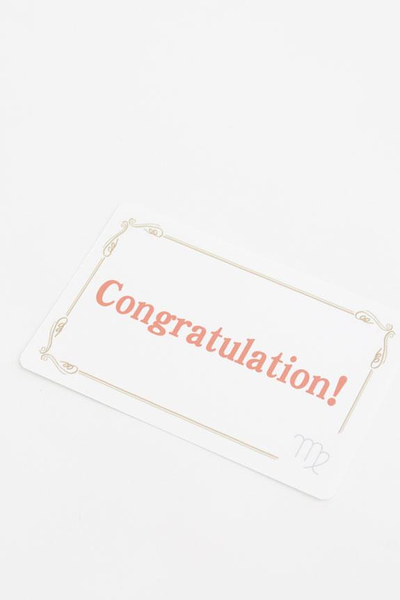 <p>12星座のロゴ入りメッセージカードが無料で付いているので、贈る気持ちを表現することが可能です。</p>